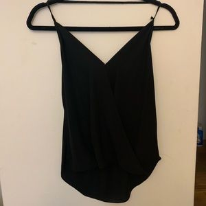 Olivaceous Black flowy cross cami top